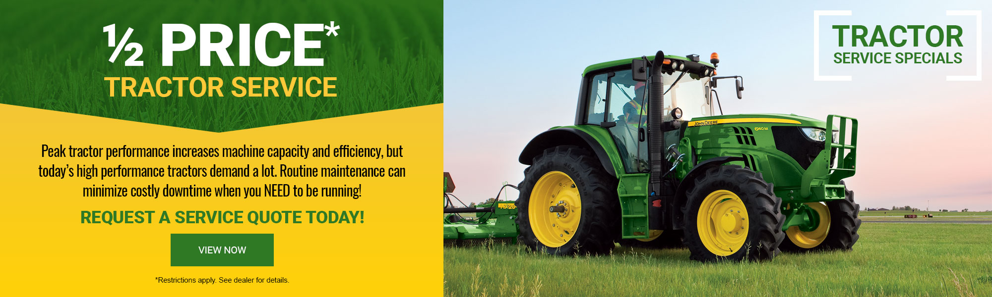 1/2 Price Tractor Service - Request A Quote Today