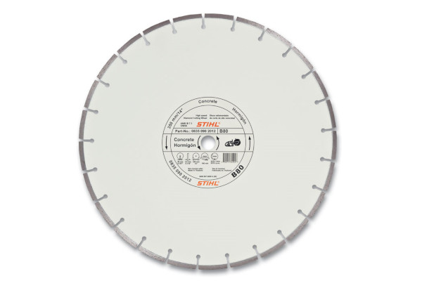 Stihl D-B80 Diamond Wheel - Premium Grade for sale at Columbus, Elmer, Marlboro, Hammonton, Columbia, NJ